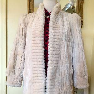 Genuine Sheared Fur Plush Jacket